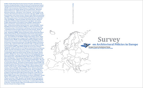 Survey on Architectural Policies in Europe